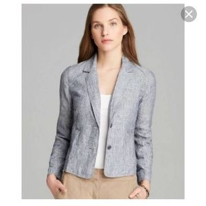 Eileen Fisher railroad stripe blazer